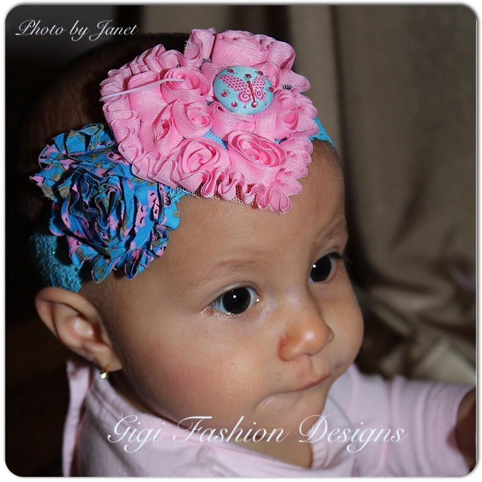 pink blue headband