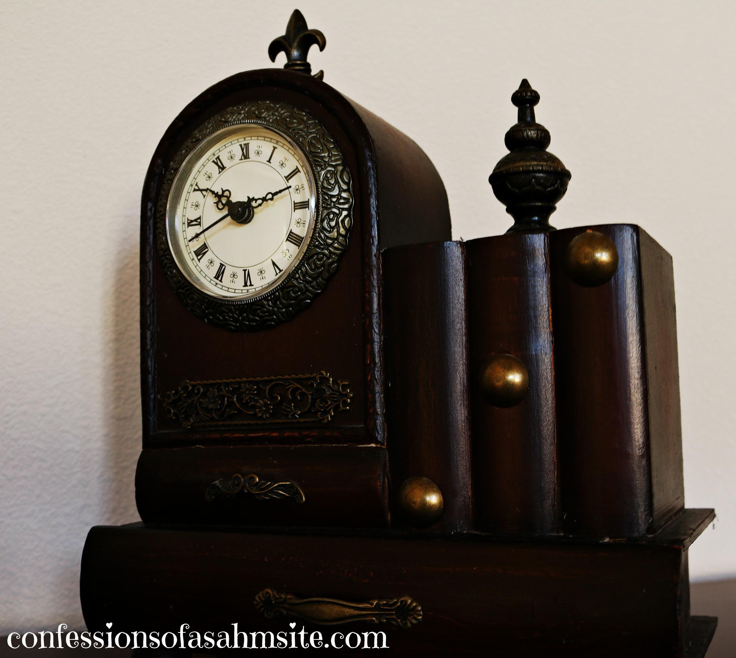 dark brown clock