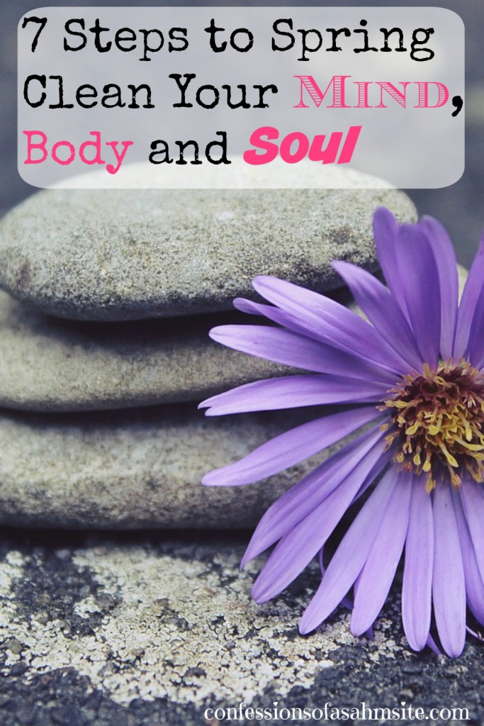 7 steps to Spring Clean your mind body soul. Great article about cleansing your mind, body and soul. I really need to work on number 4 and 5. I already try my best to do number 3 but need to work at it. Awesome tips!