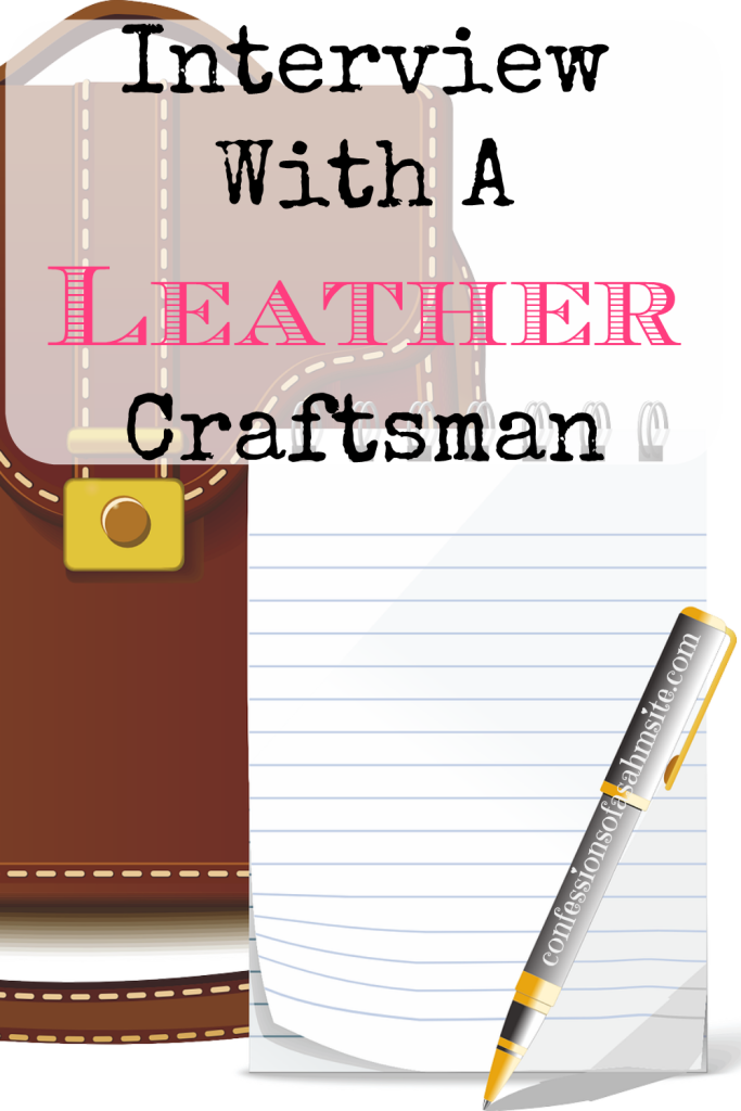 Interview With a Leather Craftsman. Such an interesting article about a young Army leather craftsman. A must read for all those thinking about making their dream of making handmade items.