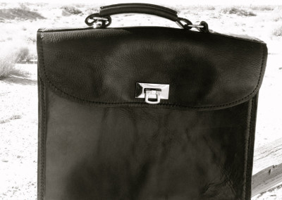 Leather craftsman briefcase