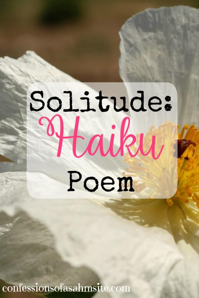 Solitude Haiku Poem