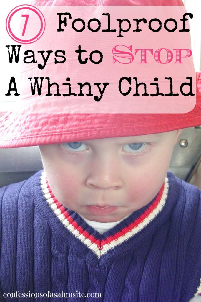 7 Foolproof ways to stop a whiny child. Great tips, especially number 6. Interesting read for the busy mom.