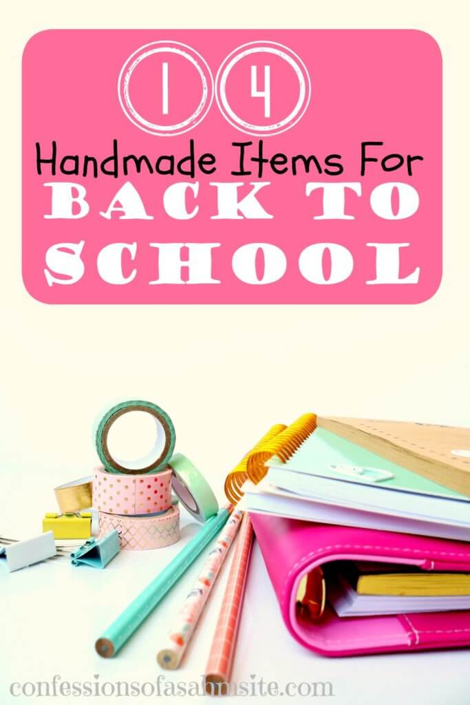 Handmade Ideas for Back to School: Find some amazing pieces that have been handmade by some creative women. These are items that can go in your child's backpack or a great gift for the teacher.