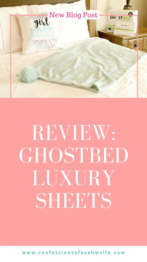 Review: GhostBed Luxury Sheets. Read my review on these soft bedsheets and what I liked about them. #wahm #lifestyle #homedecor