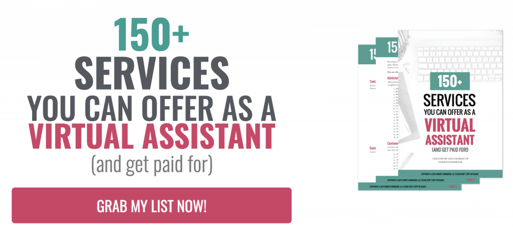 150 Services you can offer as a Virtual Assistant.
